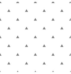 tile pattern with grey triangles on white vector image