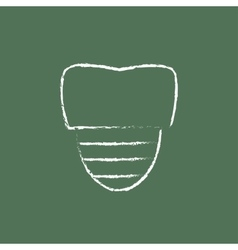 Tooth implant icon drawn in chalk vector image