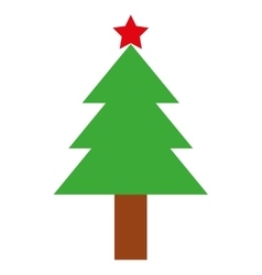 tree pine christmas isolated icon vector image