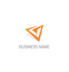 Triangle arrow company business logo vector