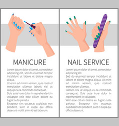 two manicure and nail services colorful banners vector image