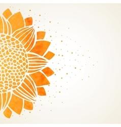 Watercolor sunflower vector