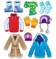 winter clothes collection 3 vector image