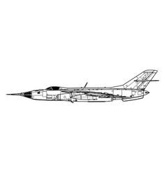 yakovlev yak-28pp firebar vector image