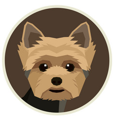 Yorkshire terrier round frame vector