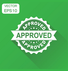 approved seal stamp icon business concept approve vector image