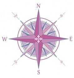 compass with Fleur-de-Lis vector image