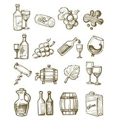 hand draw wine vector image vector image