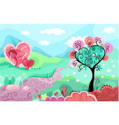 Heart landscape vector