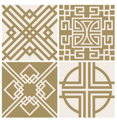 traditional japan asian seamless patterns vector image vector image