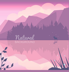 twilight northen background vector image