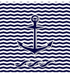 anchor symbol on the chevron background vector image vector image