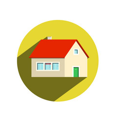 circle house icon isolated on white background vector image vector image