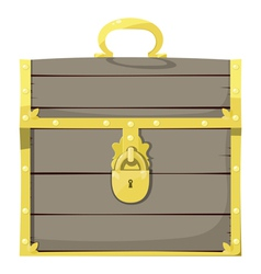 Closed pirate chest vector image