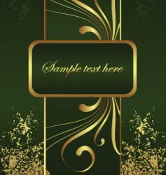 golden brochure vector image