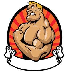 muscle bodybuilder vector image