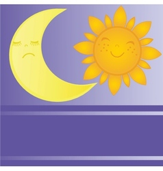 set of sun and moon day and night vector image vector image
