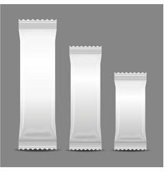 blank foil food snack sachet bag packaging vector image
