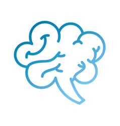 human brain mind or intelligence icon vector image