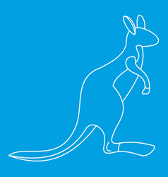 kangaroo icon outline style vector image vector image