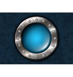 Metal circle with rivets vector