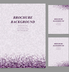 Modern square pattern brochure background set vector image vector image