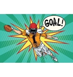 American football athlete ball goal vector image vector image