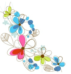 Colorful happy floral background vector image vector image