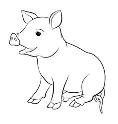 cute pig cartoon eps 10 vector image