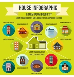 House infographic elements flat style vector image