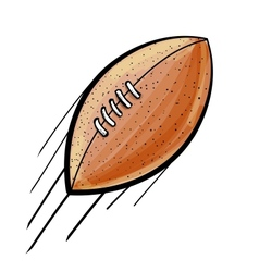 Rugby american football ball vector image
