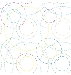 seamless background with colored rings vector image
