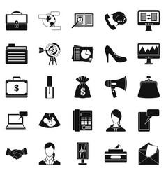 studio icons set simple style vector image vector image