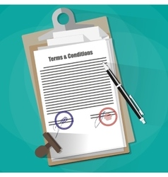 Terms and Conditions Legal Agreement vector image vector image