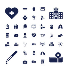 37 healthcare icons vector
