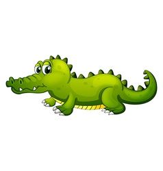 A giant green crocodile vector image