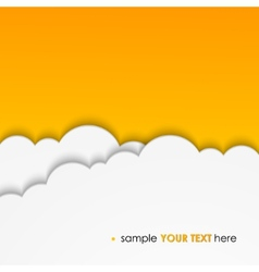 Abstract background composed of white paper clouds vector