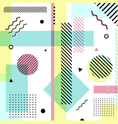Abstract geometric elements pastels color pattern vector