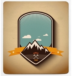 Adventure badge design All items in layers vector