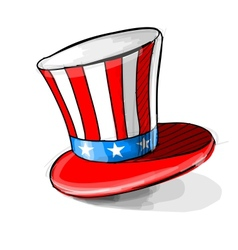 American national colors top-hat vector