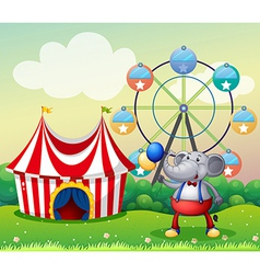 An elephant at the carnival vector