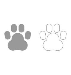 animal footprint it is icon vector image