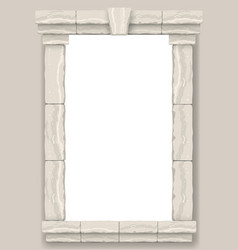 arch in the wall of beige cut stone vector image
