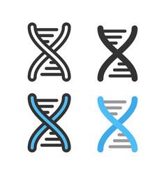 Atoms molecules dna chromosomes outline vector