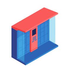 Automated parcel locker composition vector