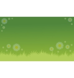 Background of spring with flower vector