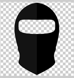 Balaclava in style flat on a transparent vector