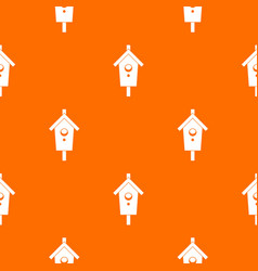 birdhouse pattern seamless vector image