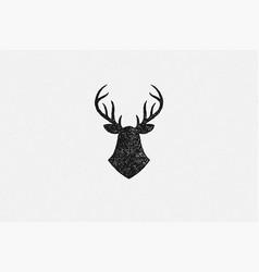 black silhouette deer head trophy as symbol vector image