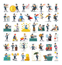 business people characters collection businessman vector image